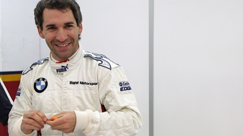 Timo Glock is a happy man after securing a BMW drive