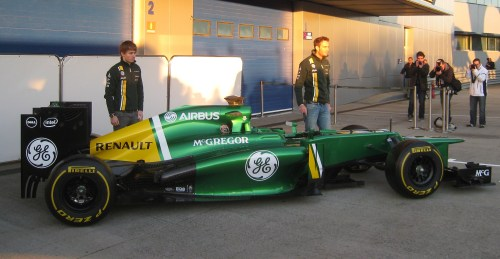 Pic and Van der garde with their new toy in Jerez this morning. Photo: AC
