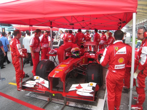 Ferrari's development programme has been in tents