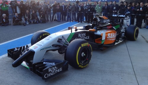 The Force India has an 'anteater' nose. Photos: AC