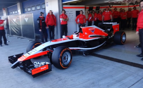 Max Chilton heads out in the Marussia. Photo: AC