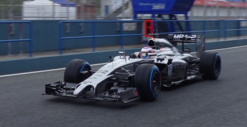 Jenson Button gives the McLaren its first run. Photo: AC