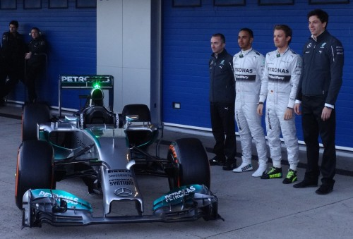 The new Mercedes on show in Jerez. Photo: AC
