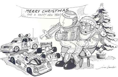 Roland commissioned this Xmas card from the great Jim Bamber