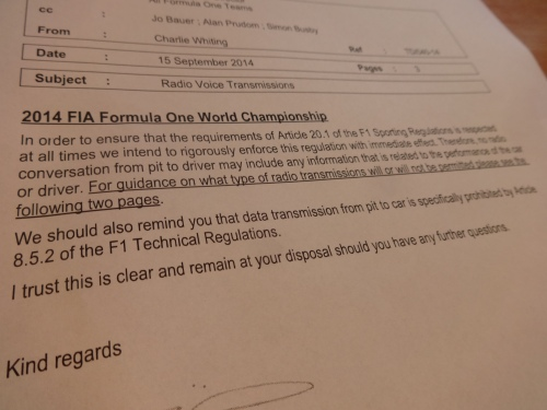 The latest technical directive from the FIA has given the teams food for thought