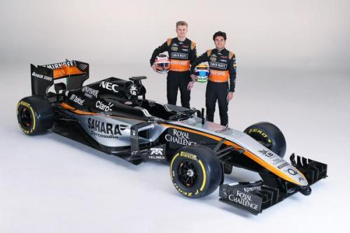 Force India has added silver to its livery
