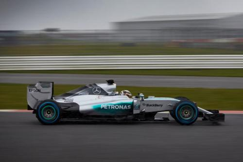 The new Mercedes ran at Silverstone today