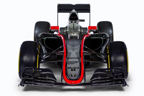 The MP4-30 seems to shout 'Mercedes' more than 'Honda...