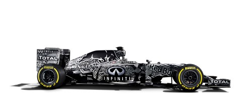 The Red Bull livery is certainly different...