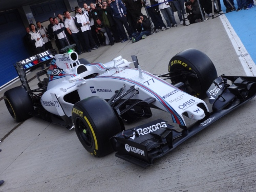 The Williams FW37 doesn't have the prettiest nose...