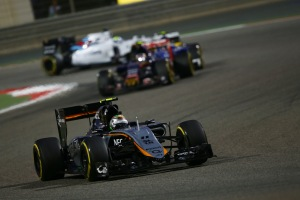 Sergio Perez scored a solid eighth place in Bahrain